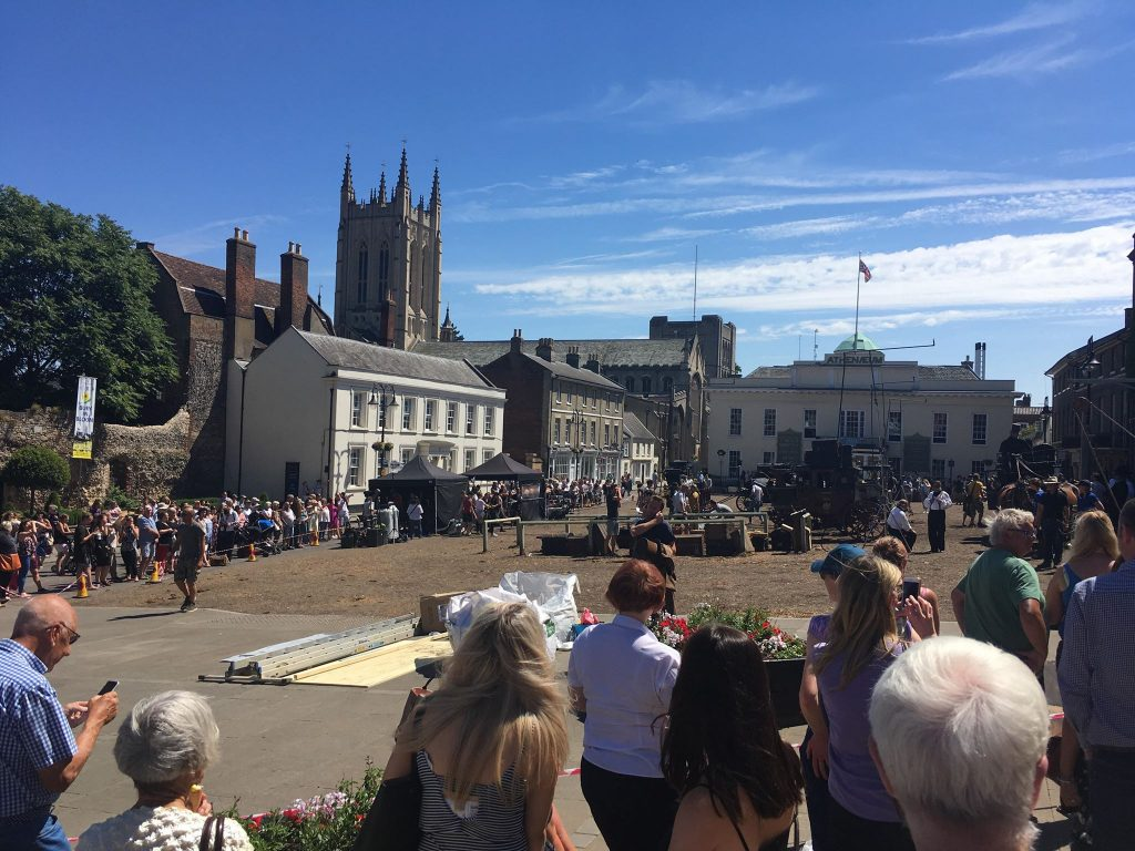 David Copperfield filming in Bury St Edmunds