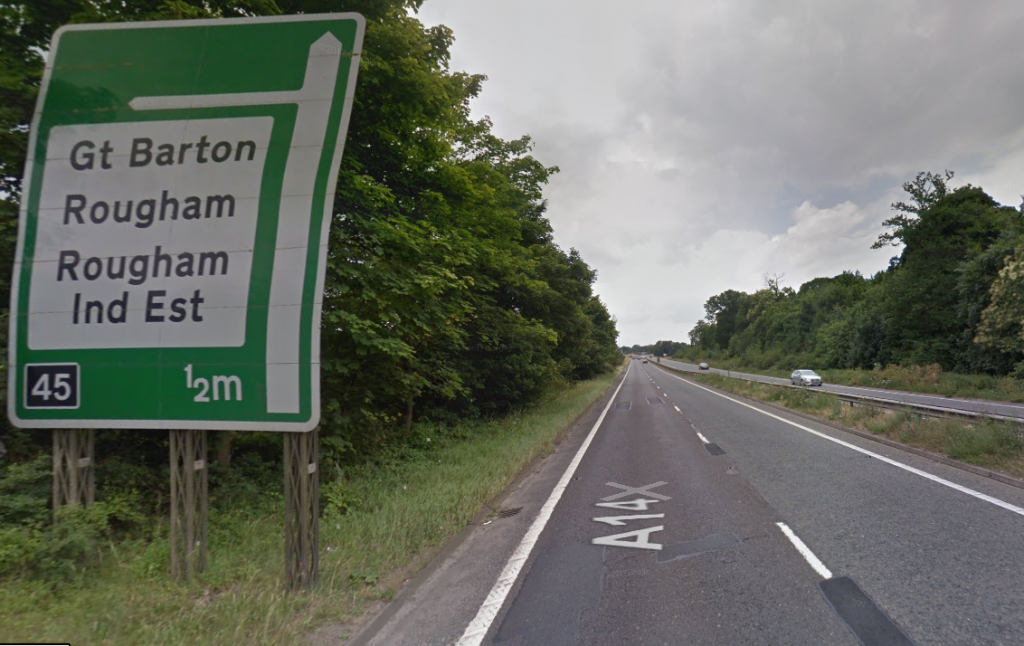 A man has died following A14 collision at Rougham