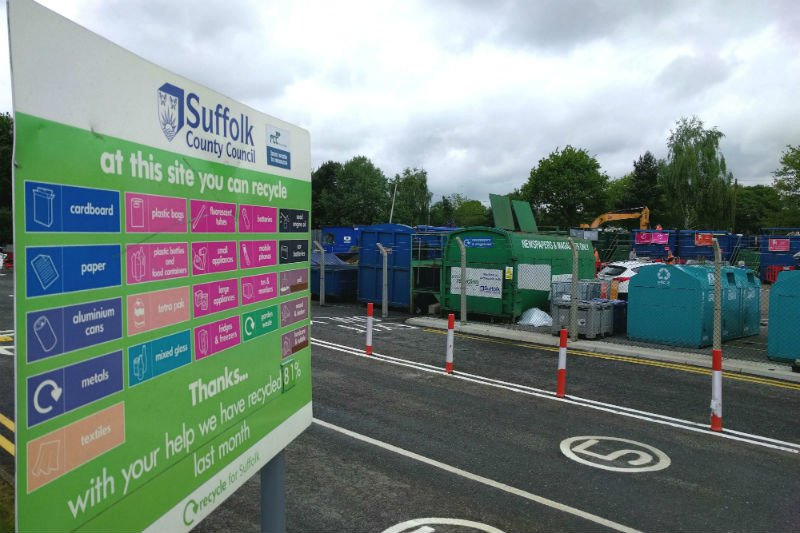 Vans, trailers and trade waste now accepted at nine of Suffolk's recycling centres