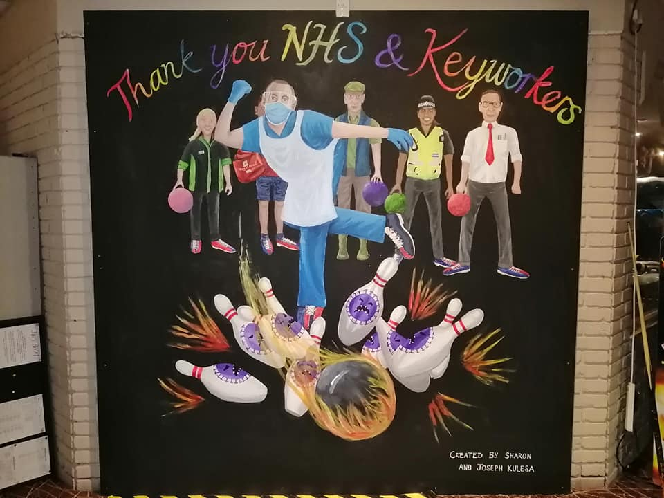 Bury St Edmunds bowling alley has unveils mural to NHS and Keyworkers