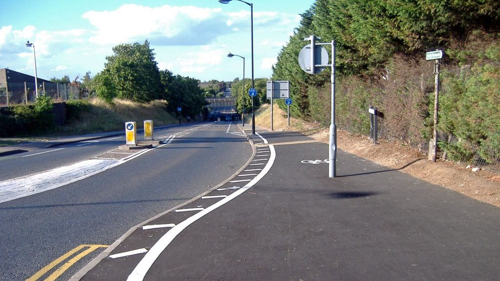 Cyclist left with leg injuries after collision with a public bus in Bury St Edmunds
