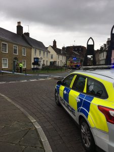 UPDATE: Roads re-opened after incident at Greene King brewery
