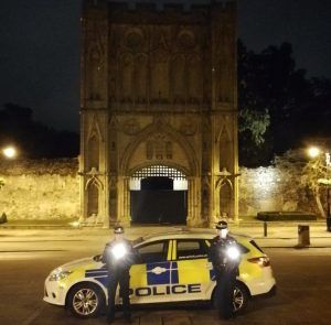 Officers in Bury St Edmunds pay their tributes on Police Memorial Day