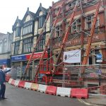 How the Victorian front of the former Post Office is being protected