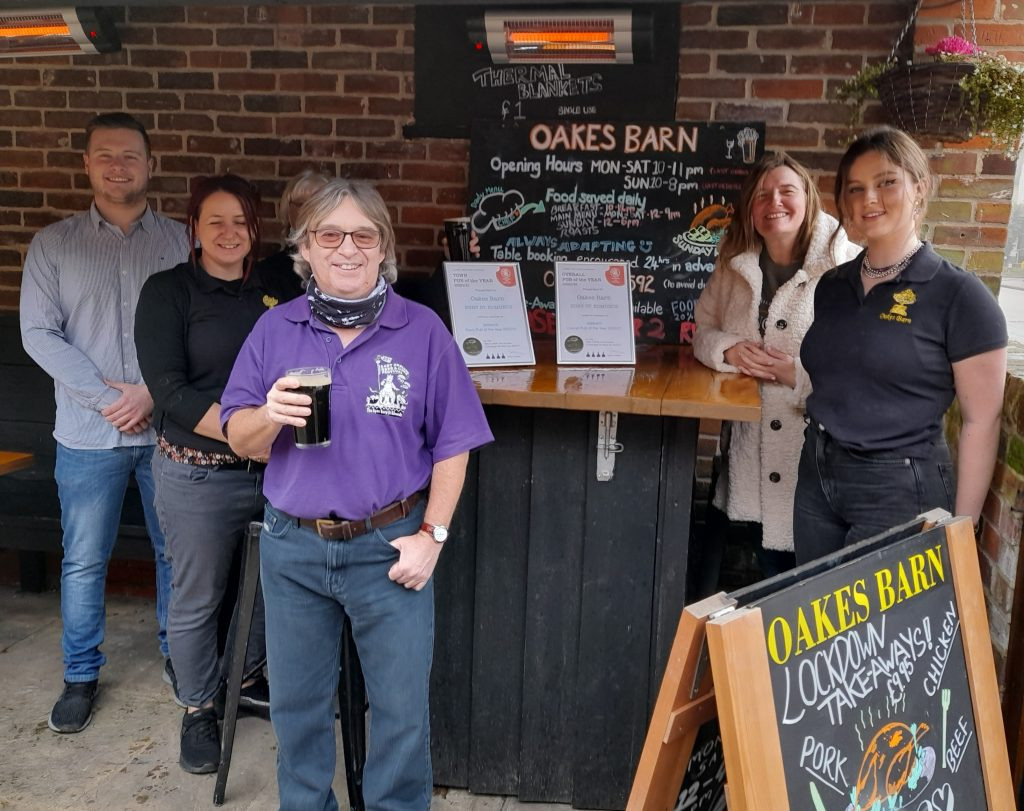 Town pub gains double award and heads in to county and national championship