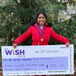 Bury St Edmunds school girl and her mum walk to raise money for the MyWiSH Charity