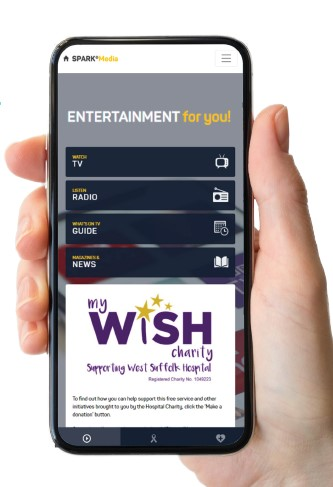 Patients at West Suffolk hospitals get free online entertainment services