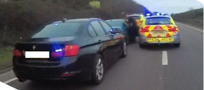 Police force stop of car on A14 linked with drug dealing