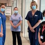 West Suffolk Hospital Covid-19 vaccination team given award by an envoy of the Queen
