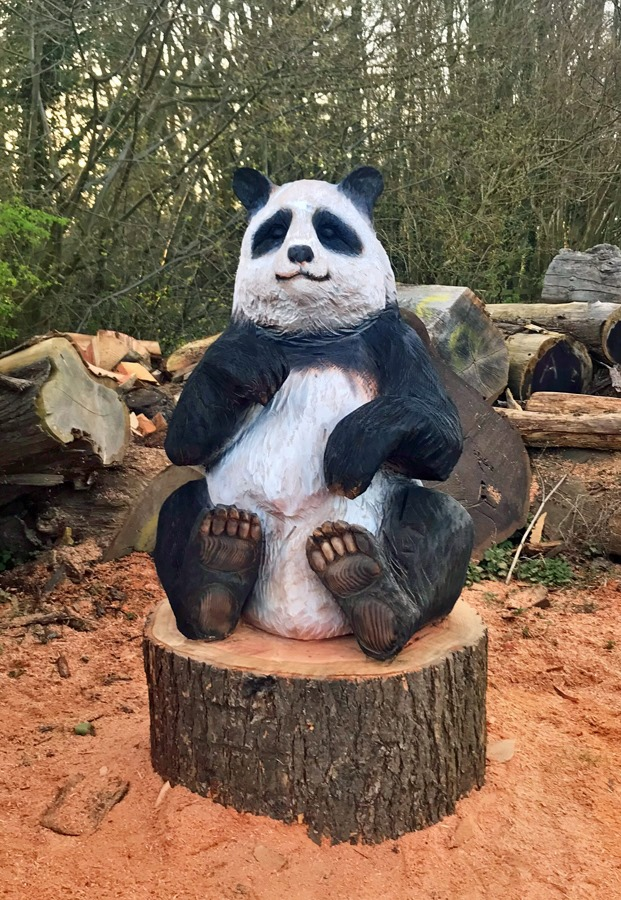 New panda carving arrives at Nowton Park