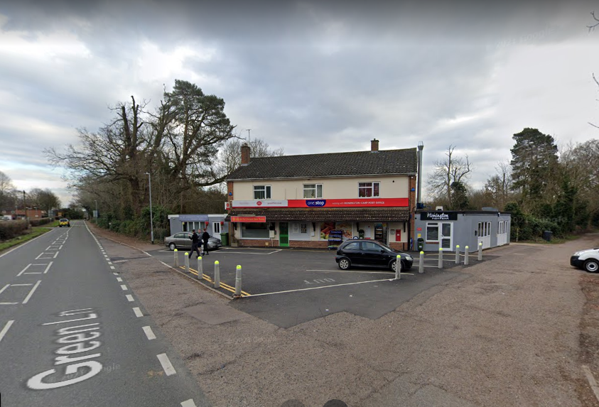Knife pointed at pedestrian from car window near to a West Suffolk RAF Base